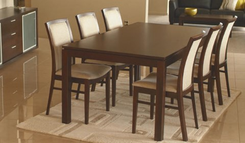 ATTRA FIXED TOP DINING TABLE IN OAK TIMBER
