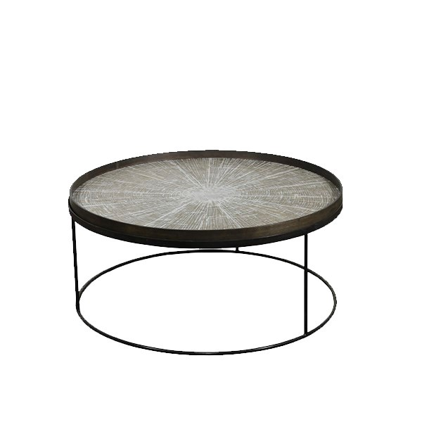 COFFEE TABLE ROUND LOW / EXTRA LARGE (tray not included)