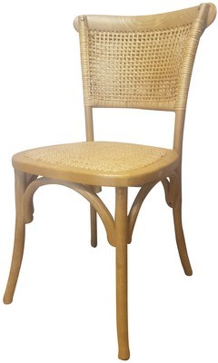 RATTAN WEAVE DINING CHAIR OAK