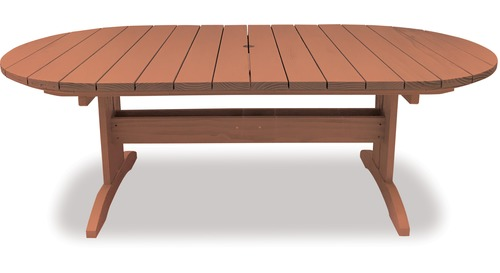 Eden 2200 Oval Extension Outdoor Table