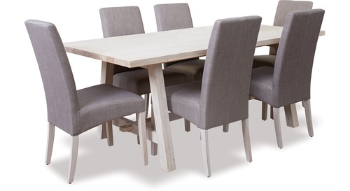 Ocean Grove Trestle Dining Table & Grove Chairs x 6