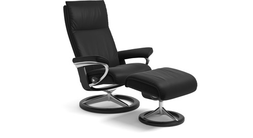 Stressless® Aura Leather Recliner - Signature Base