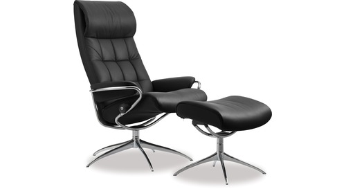 Stressless® London Leather Recliner - High Back/Star Base