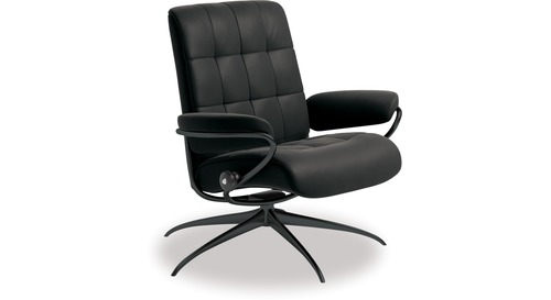 Stressless® London Leather Recliner - Low Back/Star Base