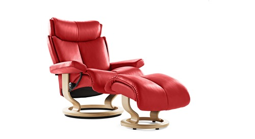 Stressless® Magic Leather Recliner - Classic Base