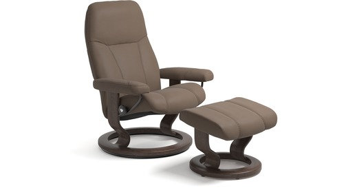 Stressless® Consul Leather Recliner - Classic Base - 3 Sizes Available
